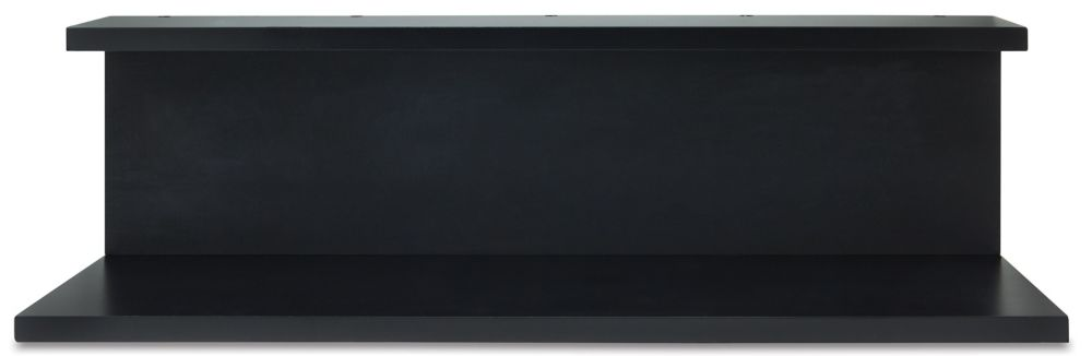 Noto Black Wall Shelf with Chalkboard Feature, 6.75 by 24 by 6-Inch