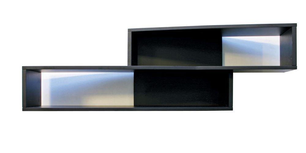 Nexxt, étagère murale à angle Luca, 39 x 8 x 12po, de couleur noire