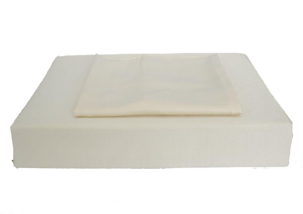 Bamboo Solid - Ensemble de housse de couette, beige, grand lit