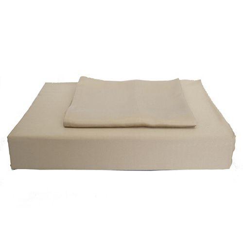 Maholi 310TC Bamboo Solid Duvet Cover Set, Taupe, Double
