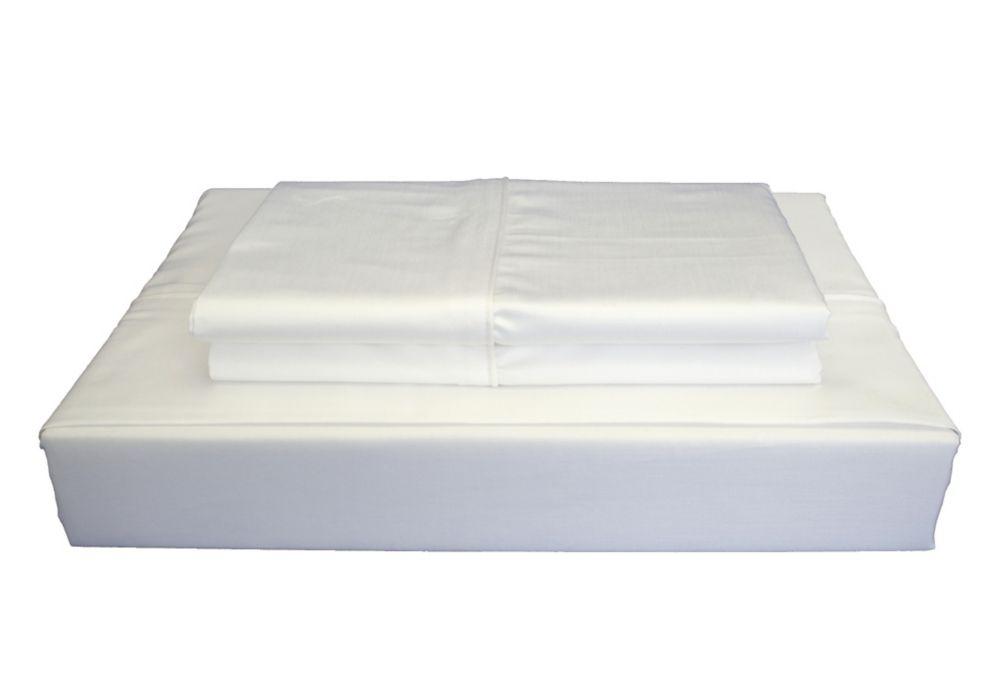 Maholi 310TC Bamboo Solid Sheet Set, White, King