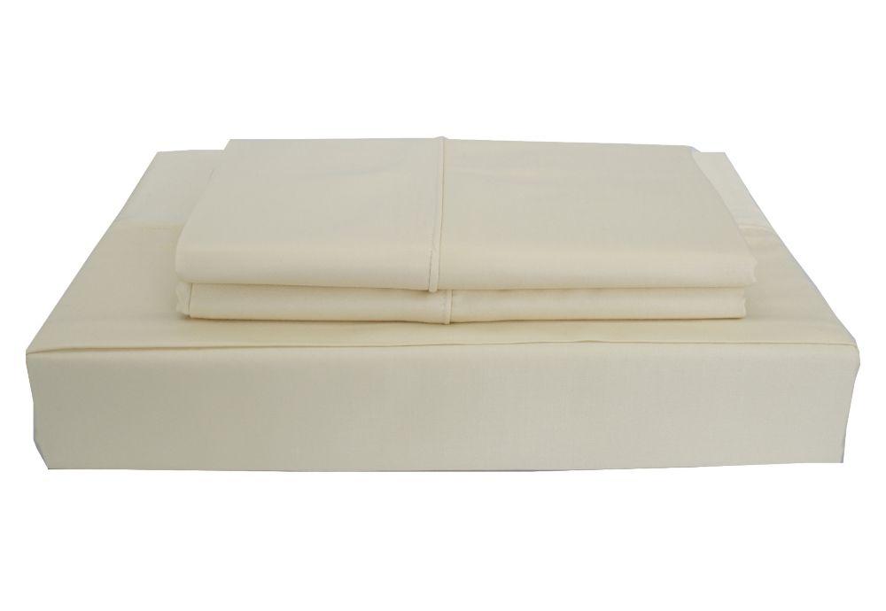 Maholi 310TC Bamboo Solid Sheet Set, Beige, Double