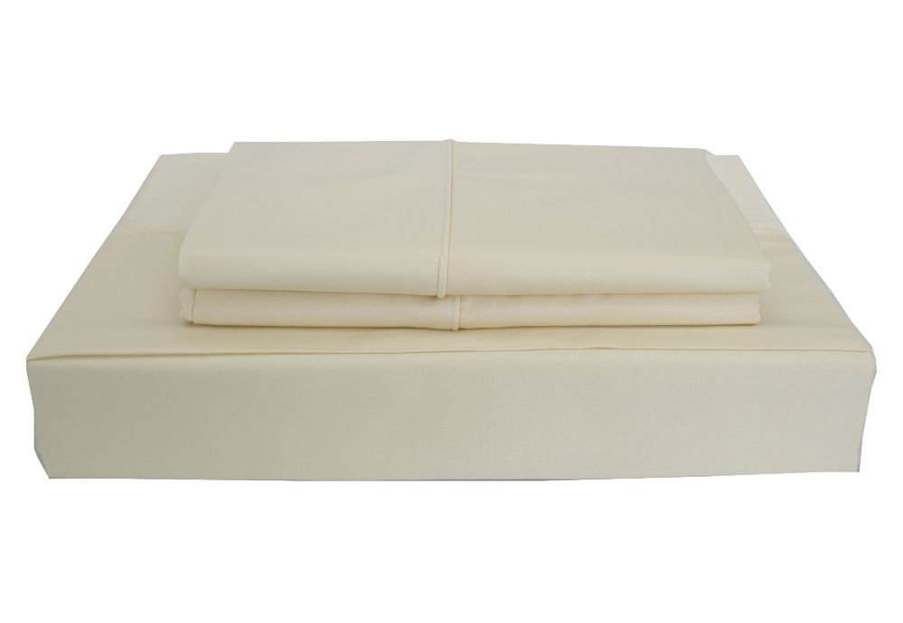 Bamboo Solid - Ensemble de draps, beige, grand lit