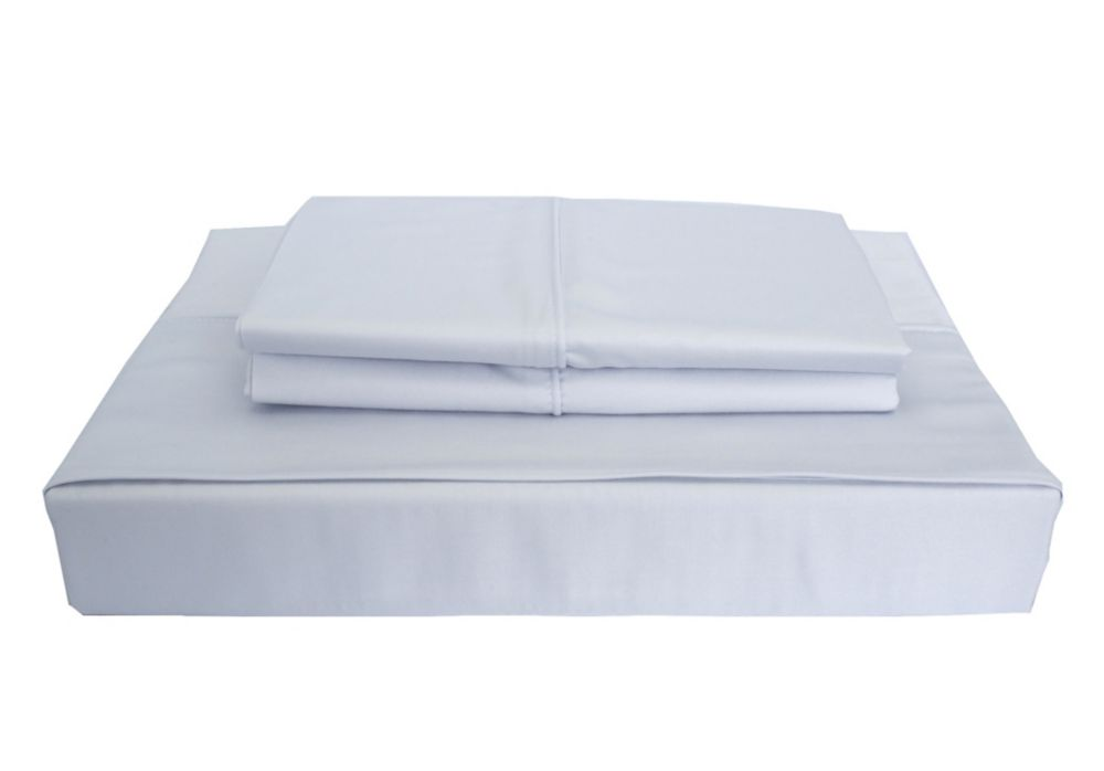 310TC Bamboo Solid Sheet Set, Blue, Double LB-002SSBD in Canada