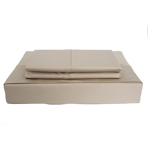 Maholi 310TC Bamboo Solid Sheet Set, Taupe, Queen