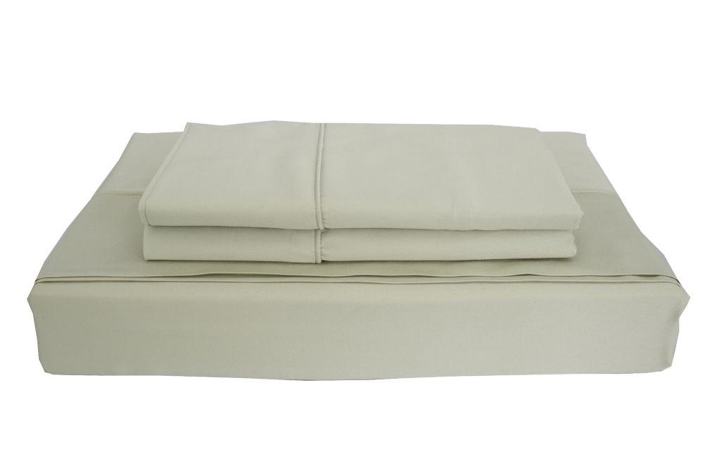 Maholi 310TC Bamboo Solid Sheet Set, Sage, Twin