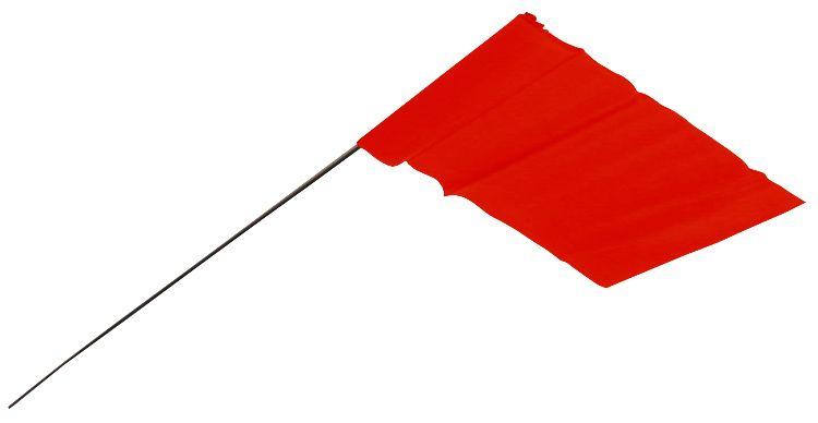 Paquet De 100 Fanions Sur Piquet Rouges