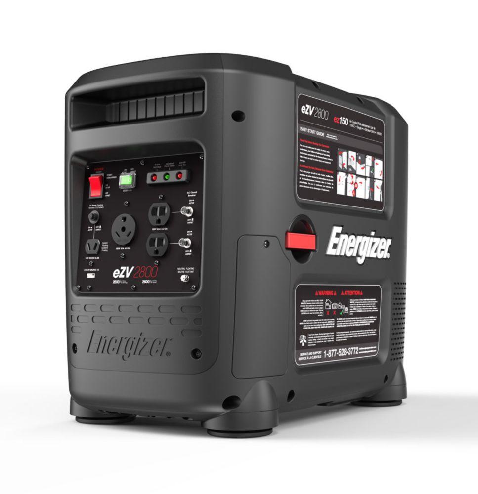 EZV2800: 2800 Watt Portable Gas Powered Inverter Generator with Electric Start RV