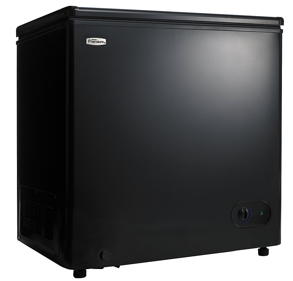 danby premiere 5 5 cu  ft  manual defrost chest freezer in black