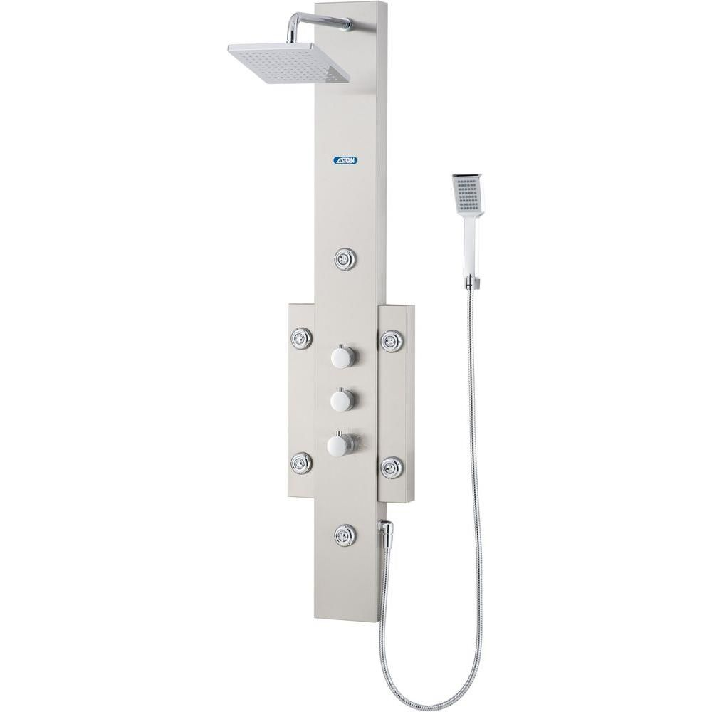 6-Jet Shower System with Directional Showerhead in Stainless Steel