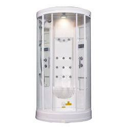 Aston 40 Inch x 40 Inch x 88 Inch Steam Shower Enclosure Kit with 12 Body Jets in White