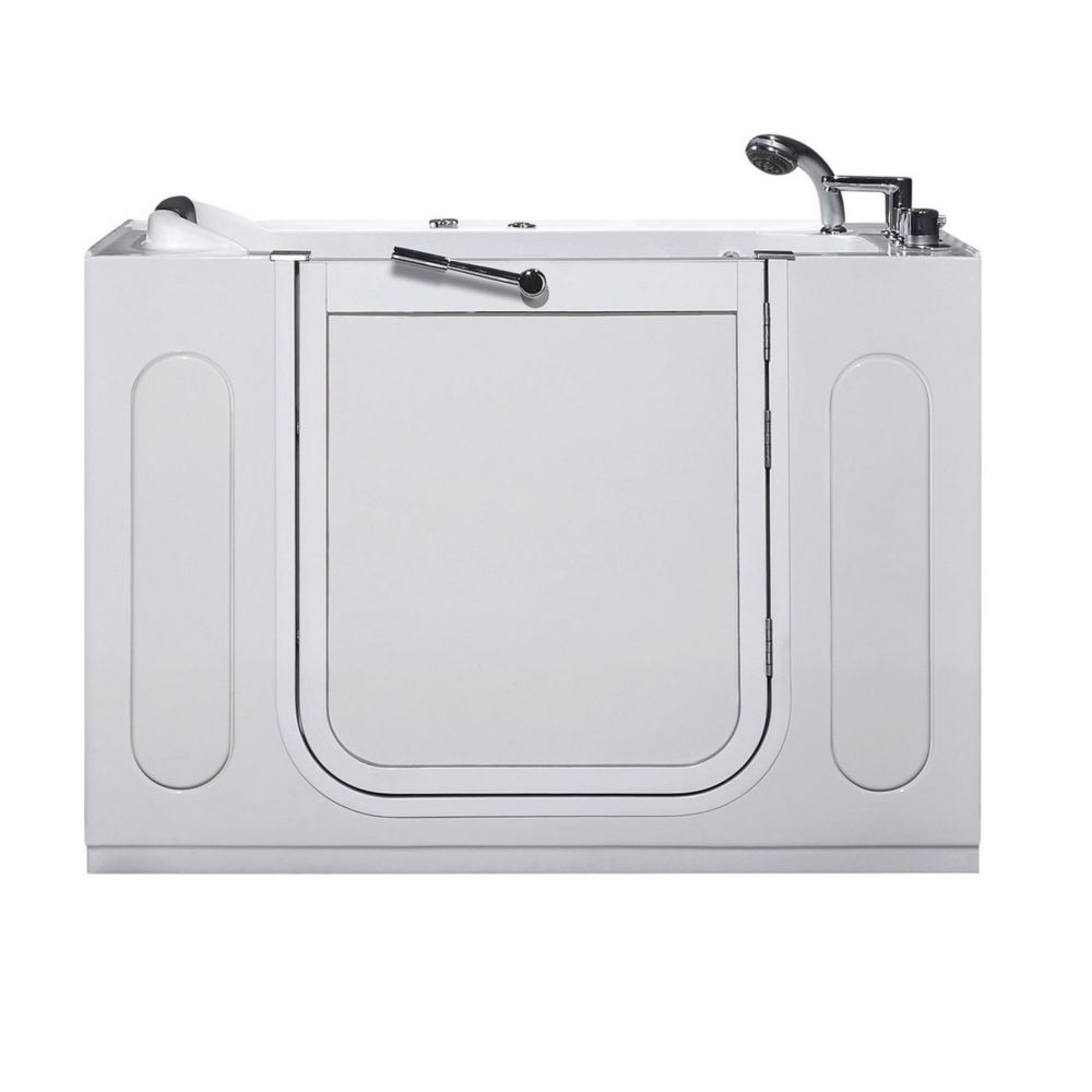 Aston 4 ft. 2-inch Rectangular Right Drain Whirlpool Walk-In Bathtub with Faucet in White