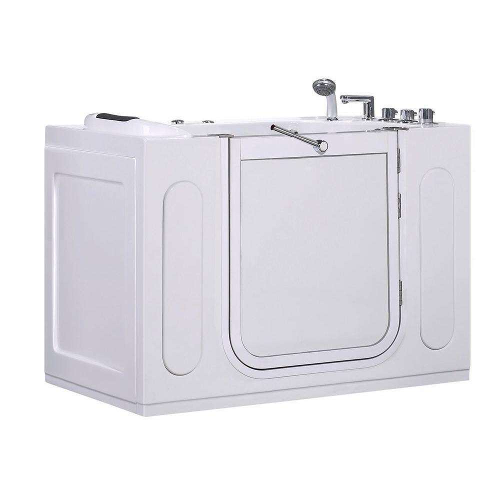 55 po Walk-in Whirlpool Bath Tub avec panneau latéral