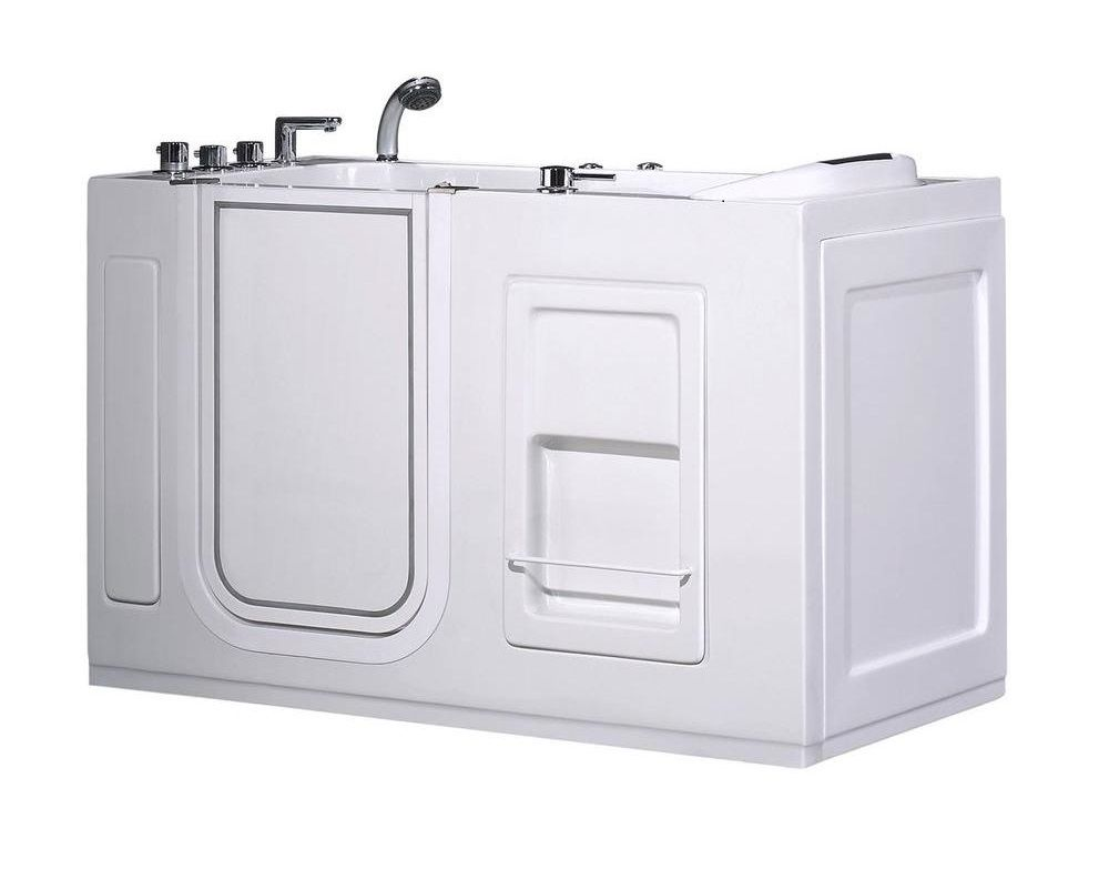 Aston 4 5 Feet Walk In Whirlpool Bath Tub With Left Drain And Side Panel In W