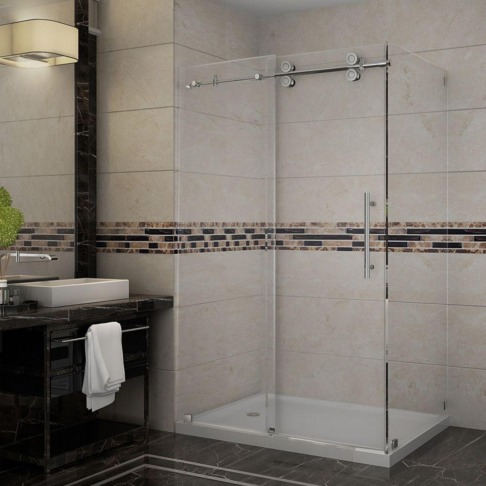 aston langham 48 inch x 35 inch frameless shower stall