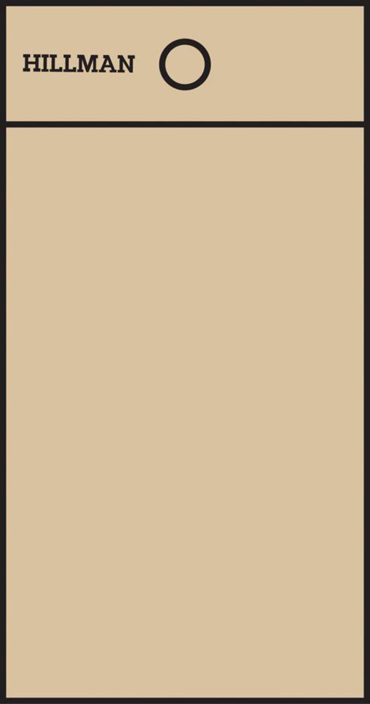 2 Inch Black & Gold Mylar Sticker Blank