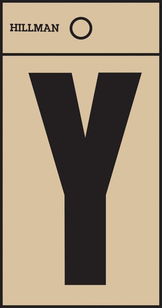 2 Inch Black & Gold Mylar Sticker Y