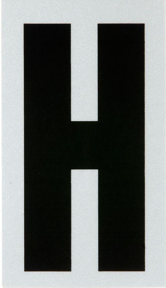 3 Inch Black & Silver Reflec Mylar H