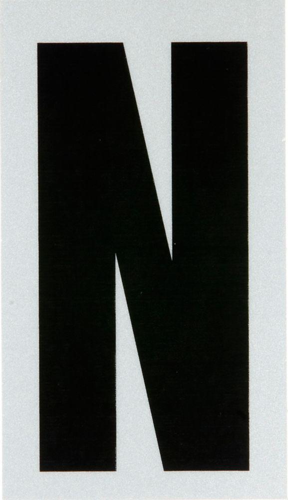 3 Inch Black & Silver Reflec Mylar N
