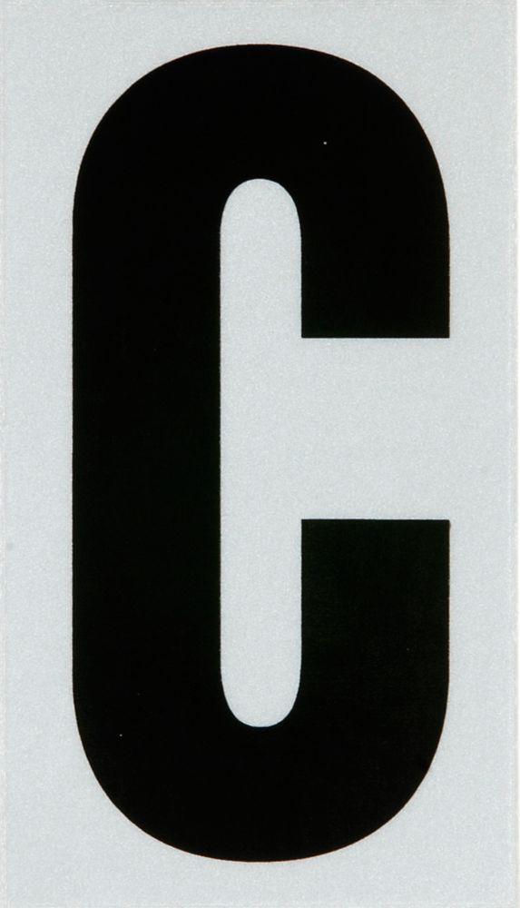 3 Inch Black & Silver Reflec Mylar C