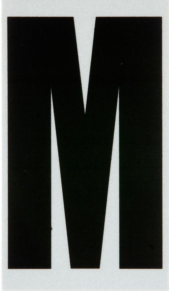 3 Inch Black & Silver Reflec Mylar M