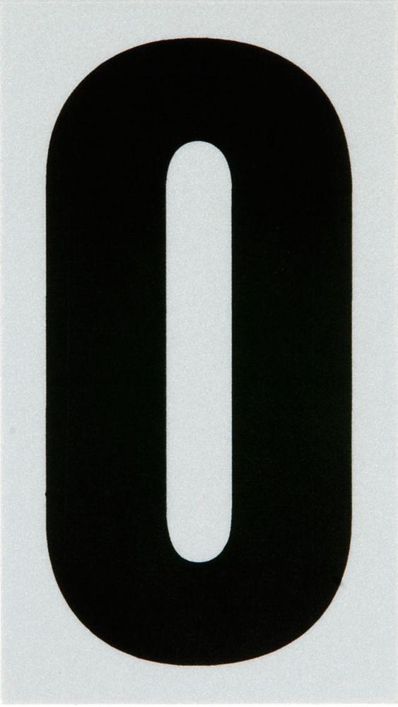 3 Inch Black & Silver Reflec Mylar O