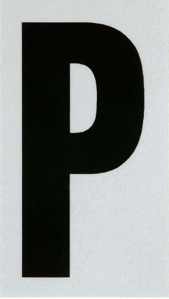 3 Inch Black & Silver Reflec Mylar P