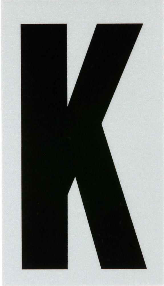 2 Inch Black & Silver Reflec Mylar K