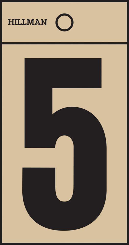 2 Inch Black & Gold Mylar Sticker 5