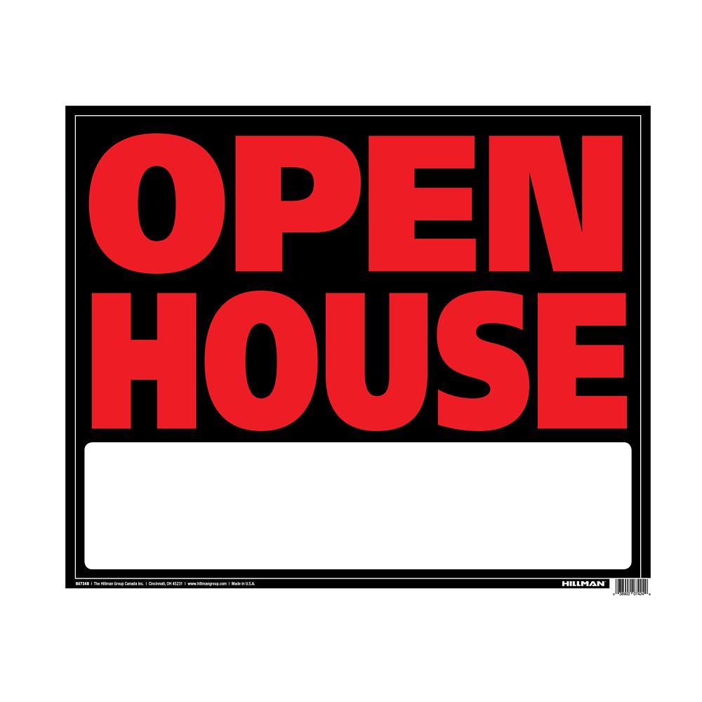 19 X 24 Jumbo Sign - Open House