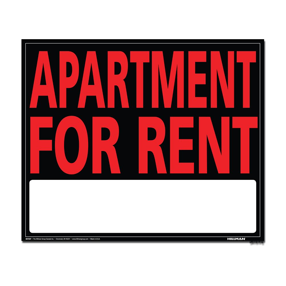 Apartment For Rent Sign: Hillman 19 X 24 Jumbo Sign - Apartment For Rent