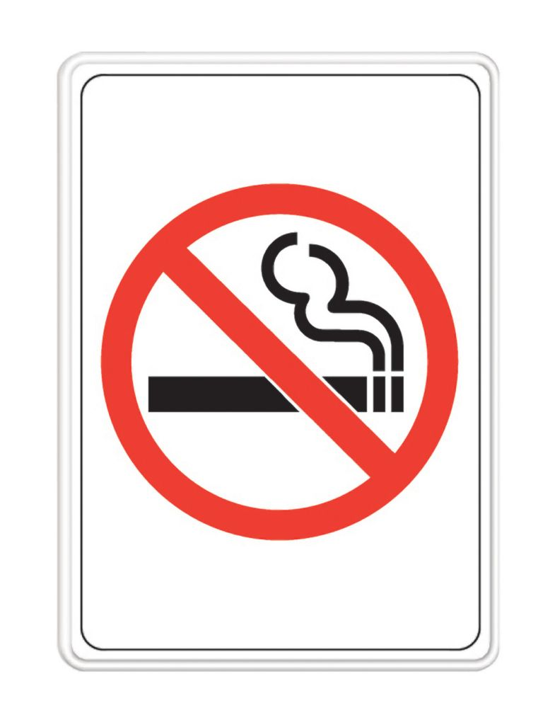 5 Inch X 7 Inch No Smoking Sign