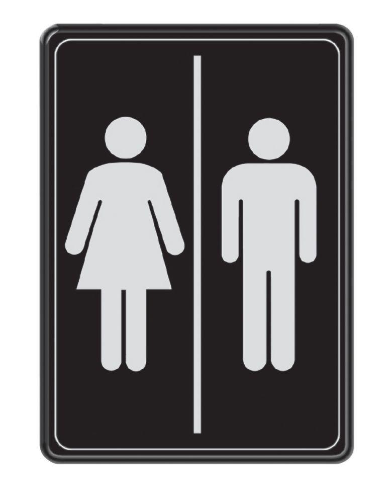 5 Inch X 7 Inch Washroom Sign