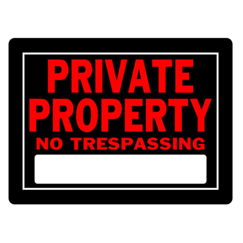 Affiche Aluminium 8 X 12 - Private Property