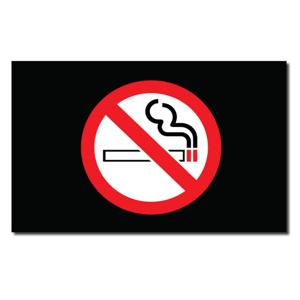 "Affiche 8 X 12 - Symbole International ""Ne Pas Fumer"""