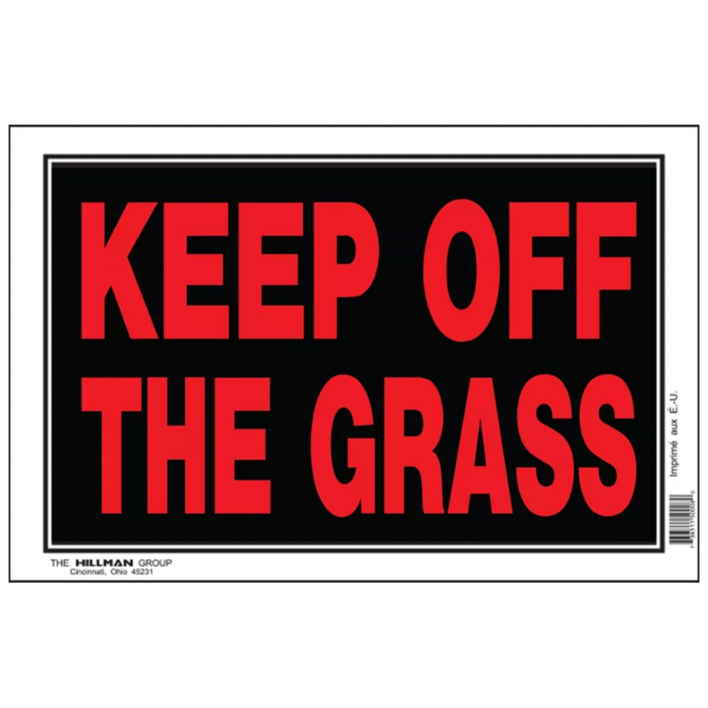 Affiche 8 X 12 - Keep Off Grass