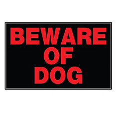 8 X 12 Sign - Beware Of Dog
