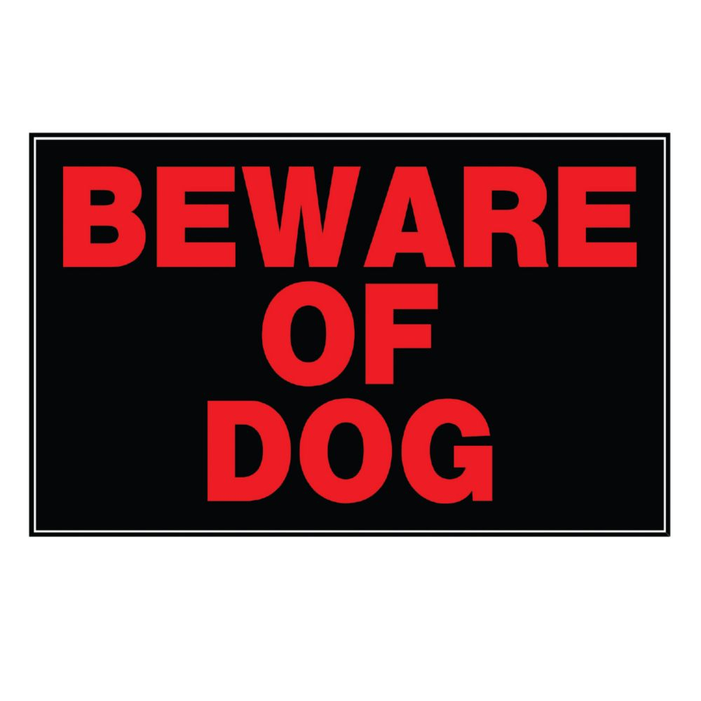 Affiche 8 X 12 - Beware Of Dog