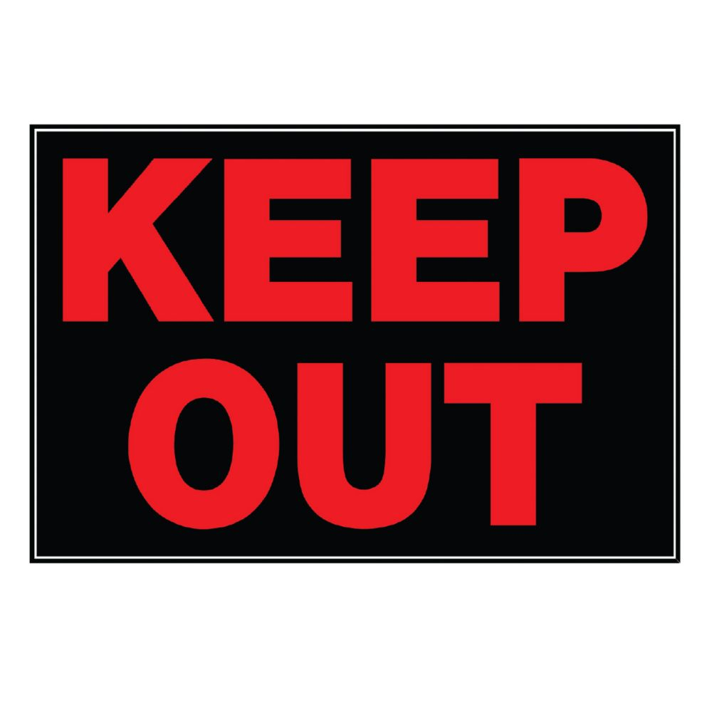 AFFICHE 8 X 12 - KEEP OUT
