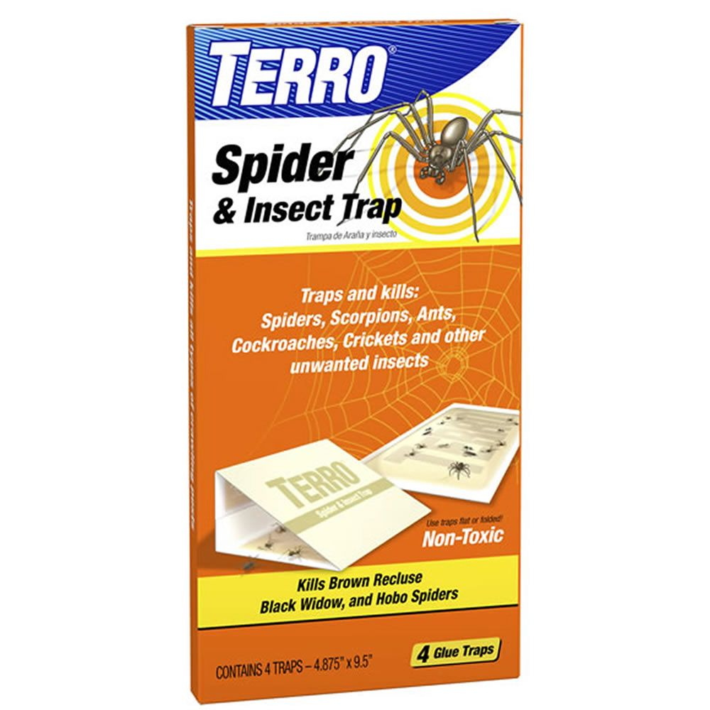 4-Pack Spider & Insect Trap