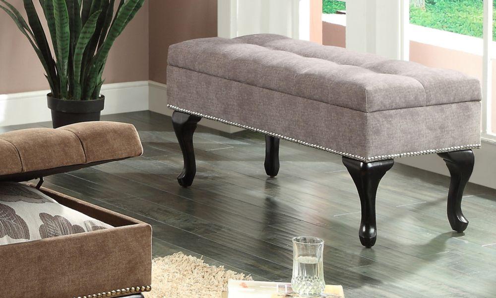 Laura-Storage Ottoman-Grey