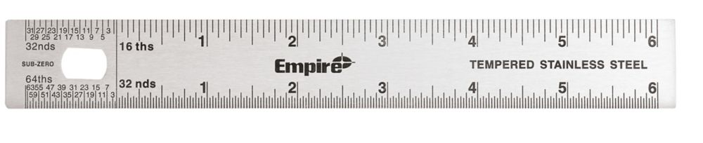 6 in. Stainlss Steel Stiff Ruler