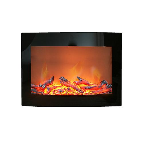 Daniel 24-inch Wall-Mount Electric Fireplace