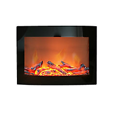 Modern Homes Electric Wall Mounted Fireplace Mahogany