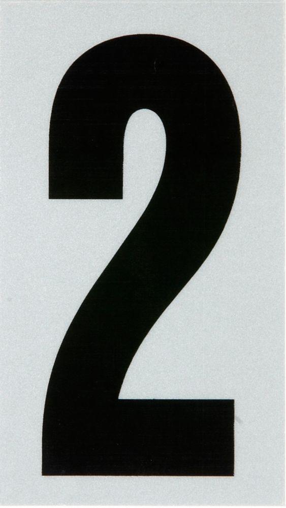 3 Inch Black & Silver Reflec Mylar 2