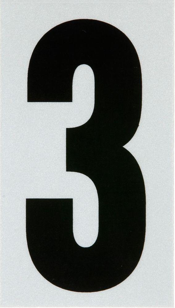 3 Inch Black & Silver Reflec Mylar 3