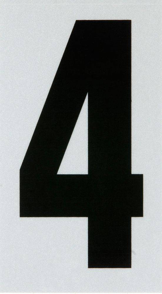 3 Inch Black & Silver Reflec Mylar 4