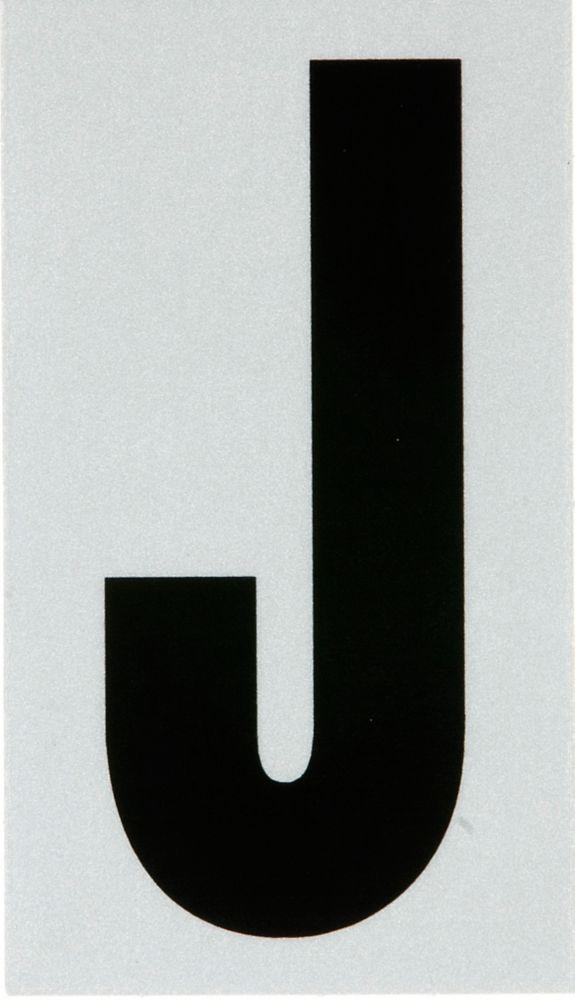 2 Inch Black & Silver Reflec Mylar J