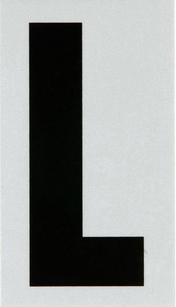 2 Inch Black & Silver Reflec Mylar L