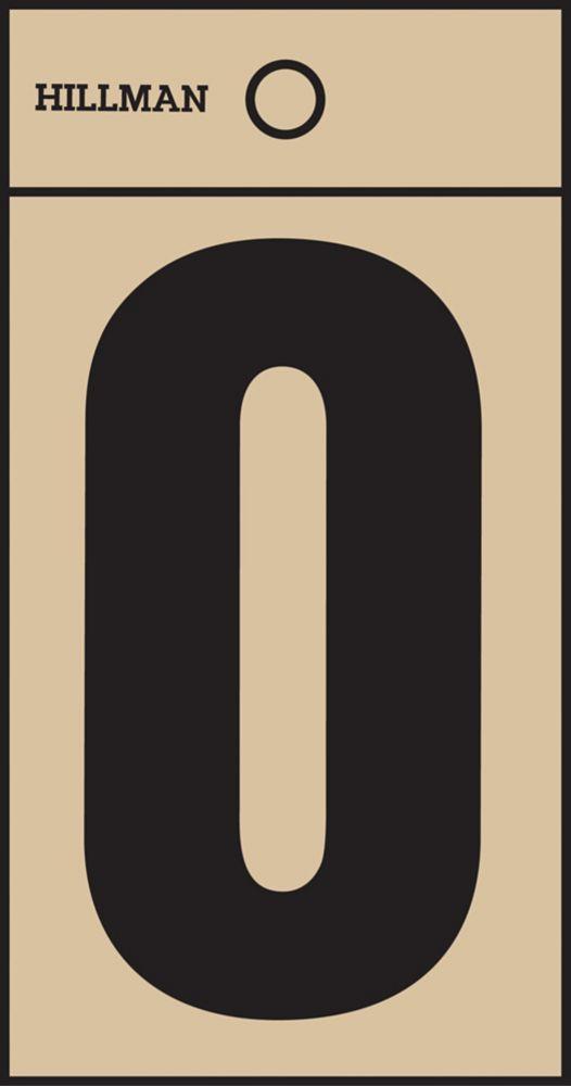 2 Inch Black & Gold Mylar Sticker O